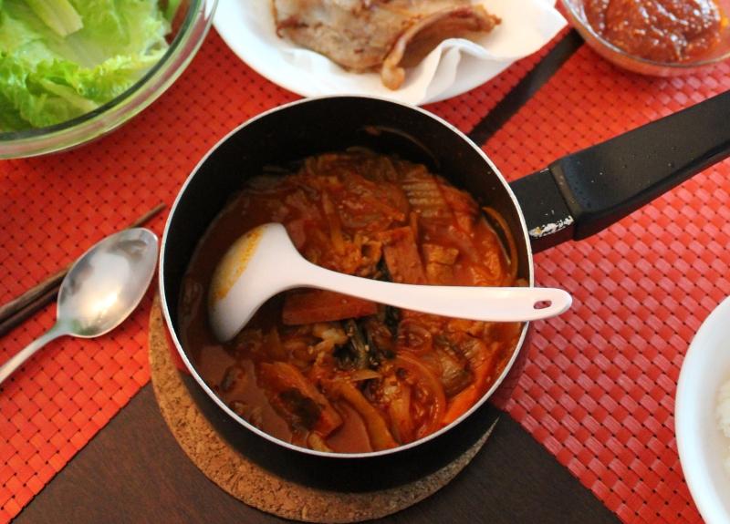 kimchi chigae finished product