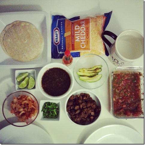 Kimchi Tacos Spread